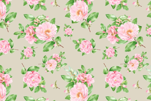 Floración floral floral de patrones sin fisuras