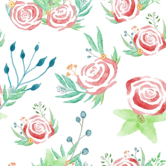 Floral elegante acuarela patrón pequeño