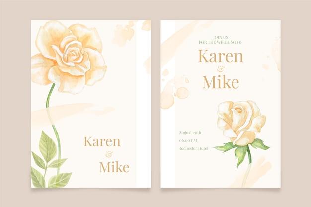 Floral femenino guardar el tema de invitación de fecha