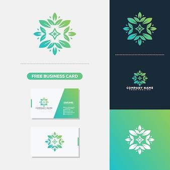 Floral spa logo vector plantilla