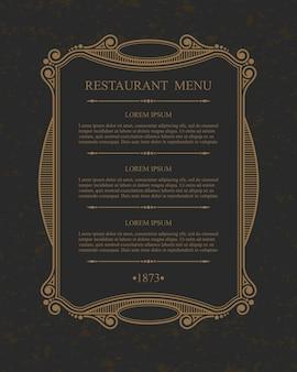 Florece elementos de diseño de restaurante de menú caligráfico, plantilla elegante tipográfica.