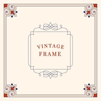 Florece la ilustración de marco de adorno vintage