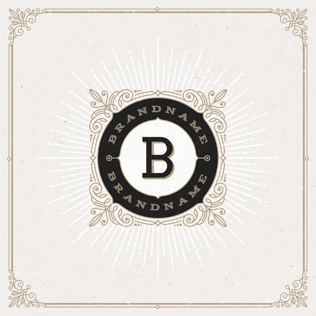 - florece el logotipo del monograma.