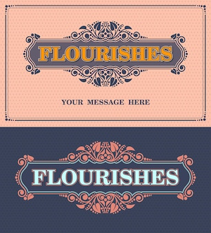 Florece el marco ornamental. plantilla de vector de tarjeta de felicitación de adorno vintage. invitación de boda retro, ilustración vectorial