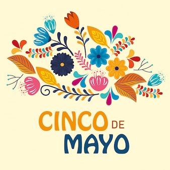 Florece plantas con ramas para evento mexicano