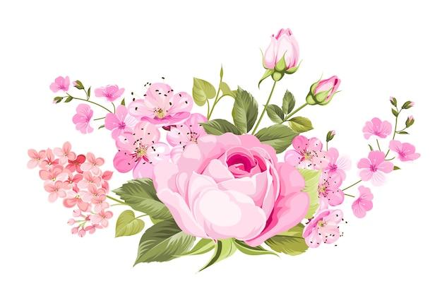 Florecen las flores de primavera.