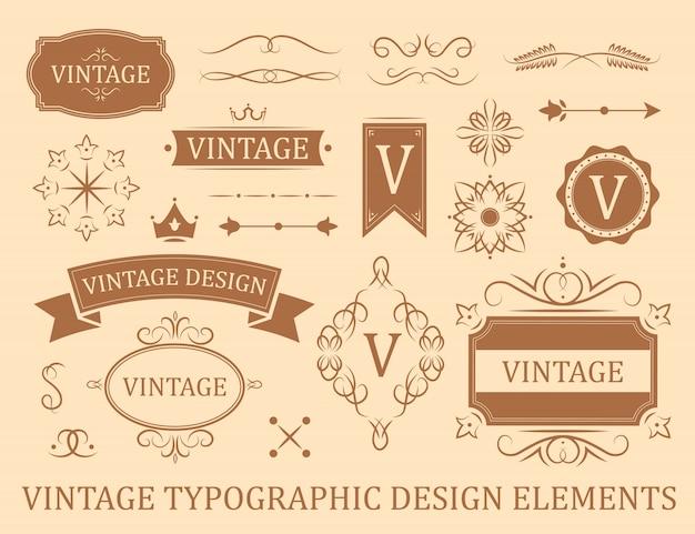 Florecer conjunto de insignias planas vintage