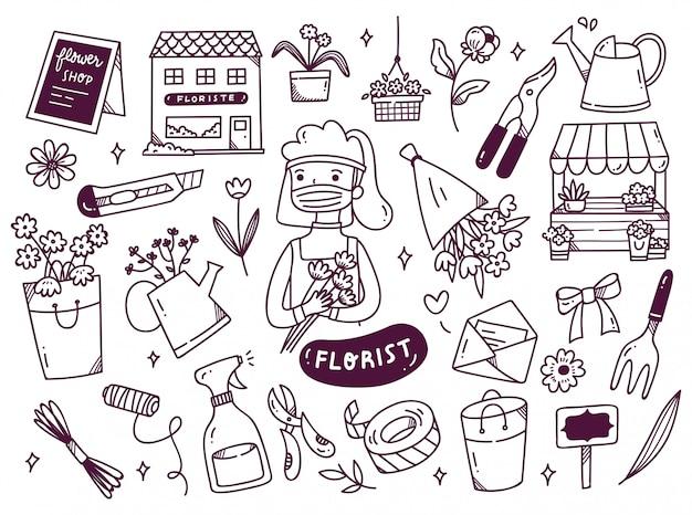 Floreria con doodle de mascarilla