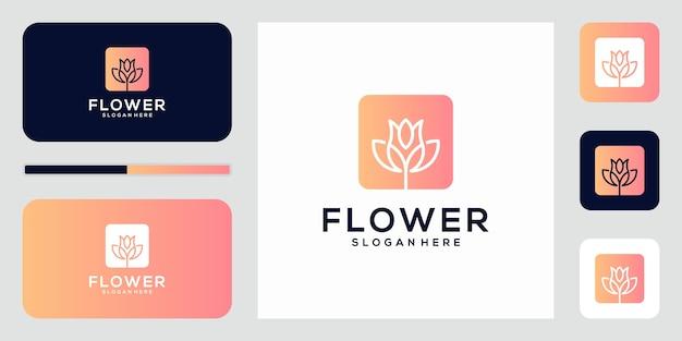 Flores abstractas elegantes que inspiran belleza, yoga y spa