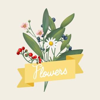 Flores bellamente diseñadas