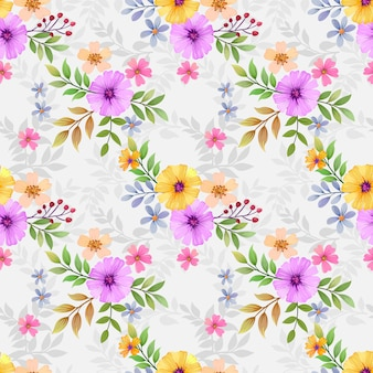 Flores de colores sin costura para estampados de moda, envoltura, textil, papel, papel tapiz.