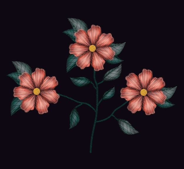 Flores coloridas geranio