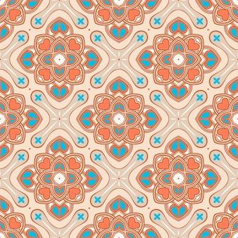Flores y corazones naranjas