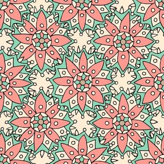Flores étnicas de patrones sin fisuras. puede ser utilizado para telas, textiles, envoltura.