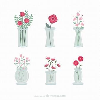 Flores en floreros