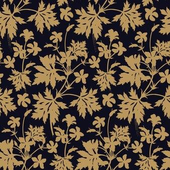 Flores de geranio. patrón floral transparente.