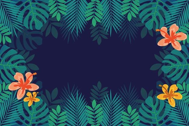 Flores / hojas tropicales - fondo para zoom