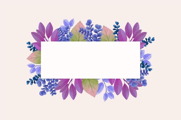 Flores de invierno con banner de espacio de copia