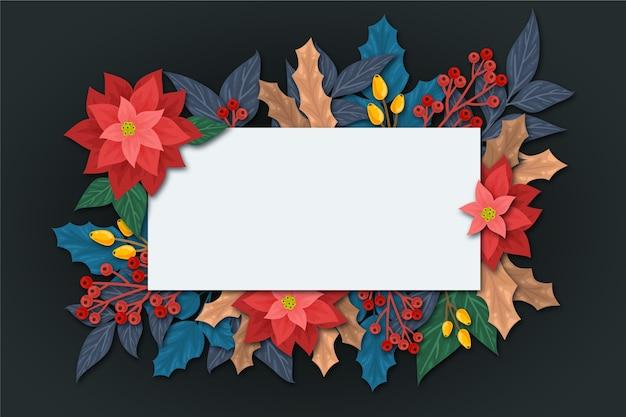 Flores para el invierno con banner vacío