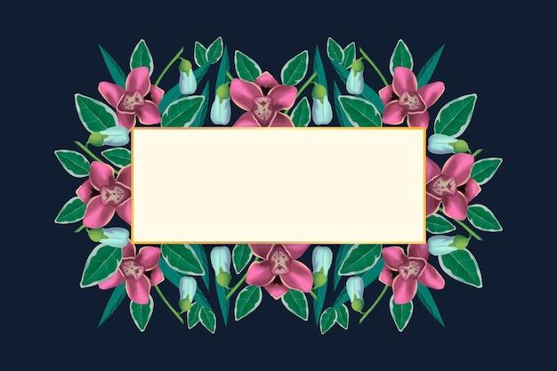 Flores de invierno con banner vacío
