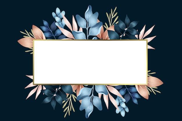 Flores de invierno con forma de banner rectangular