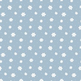 Flores de margaritas blancas simples ingenuas de patrones sin fisuras.