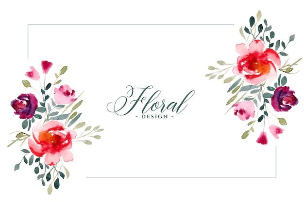 Flores modernas de acuarela