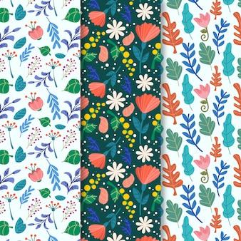 Flores naturales primavera de patrones sin fisuras