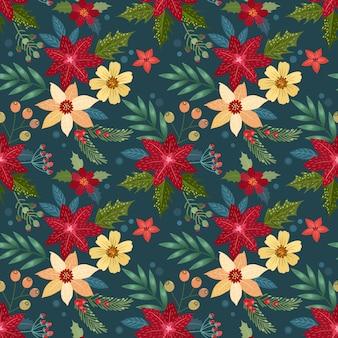 Flores de navidad sin patrón.
