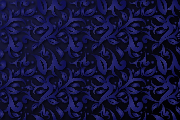 Flores ornamentales abstractas fondo azul