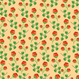 Flores de patrones sin fisuras hojas decoración de follaje