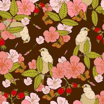 Flores de patrones sin fisuras