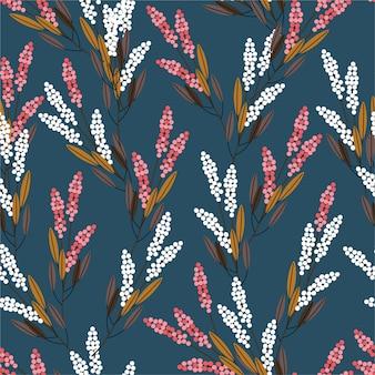 Flores de pradera sin patrón, diseño de estilo moderno para moda, telas, estampados, papel tapiz y todas las impresiones