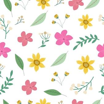 Flores primavera colección de patrones sin fisuras