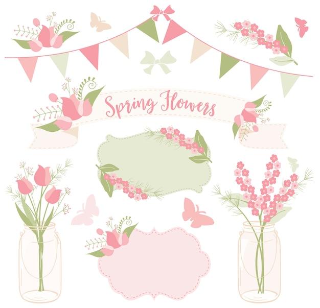 Flores de primavera para la fiesta del té