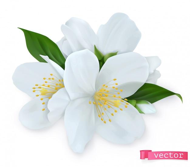Flores de primavera. icono realista 3d
