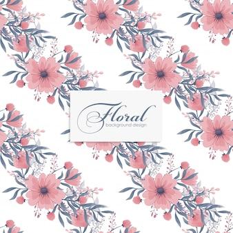 Flores rosadas florales sin costura