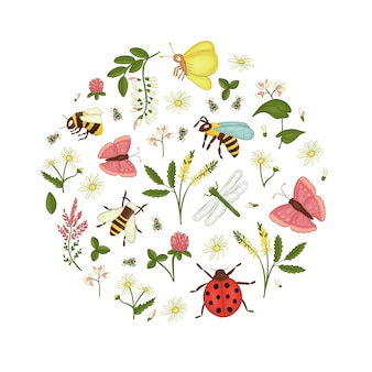 Con flores silvestres