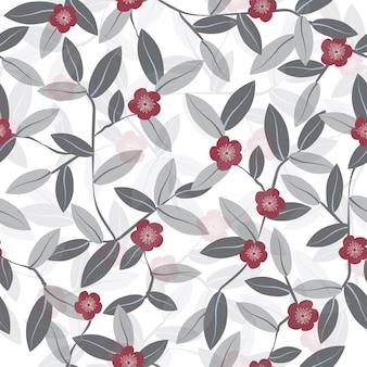 Flores vintage de patrones sin fisuras