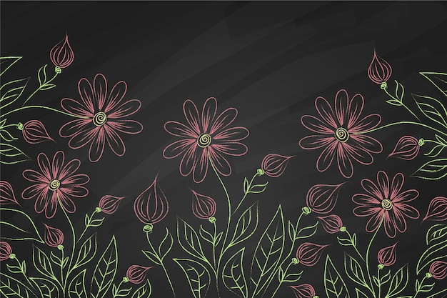 Flores violetas sobre fondo de pizarra