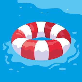 Flotador seguro en el agua.