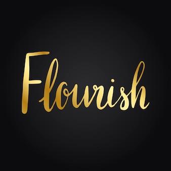 Flourish palabra tipografía estilo vector