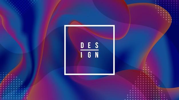 Fluido creativo composición de diseño de fondo.