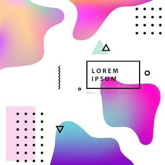 Fluido diseño de cubierta de color con gradiente de ilustración vectorial