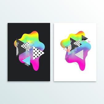Fluido diseño de cubierta de color con gradiente de ilustración