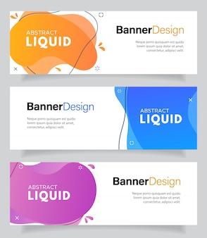 Fluido moderno para banners de venta flash