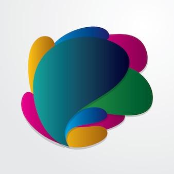 Flujo abstracto colorido formas fluidas