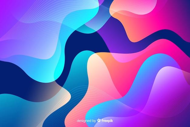 El flujo colorido abstracto forma el fondo