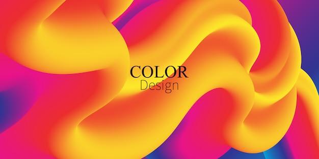 Flujo de fluido. salpicadura de tinta. color líquido. forma fluida. flujo abstracto. color vibrante. cartel de moda. gradiente de colores. tinta en agua. ola. colores fluidos. forma líquida. ola de flujo.
