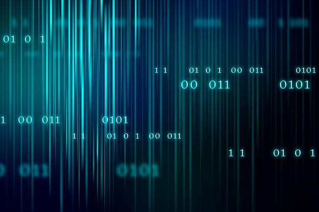 Flujo de fondo de código binario
